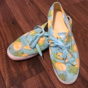 Light blue Keds with pineapple print!  🍍